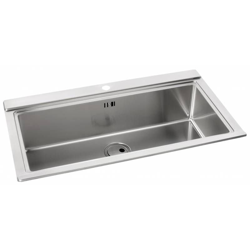 logik single large bowl no drainer inset sink aw5021 abode shop