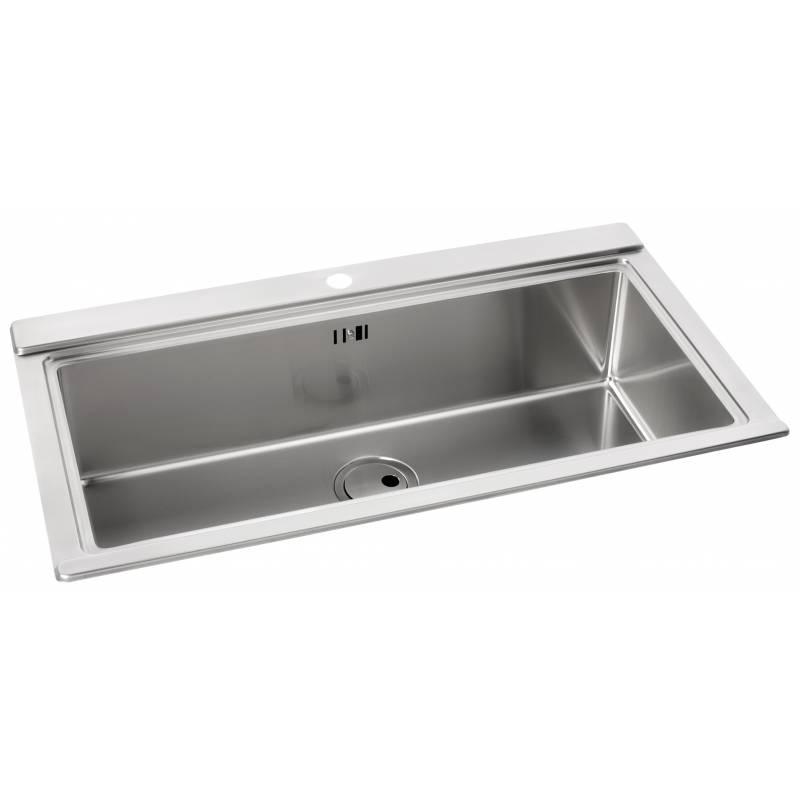 Logik Single Large Bowl No Drainer Inset Sink - AW5021 | Abode Shop