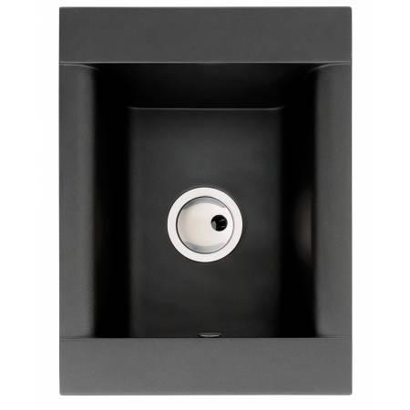 Aspekt Single Bowl in Black Metallic Granite