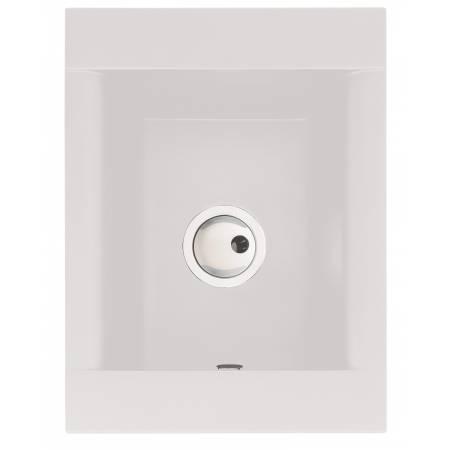 Aspekt Single Bowl in White Granite