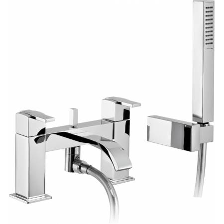 Iso Deck Mounted Bat Shower Mixer in Chrome