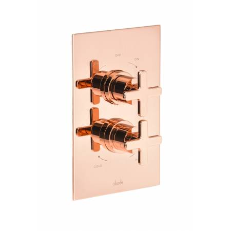 Serenitie Concealed Thermostatic Shower Valve (2 exit) in Rose Gold
