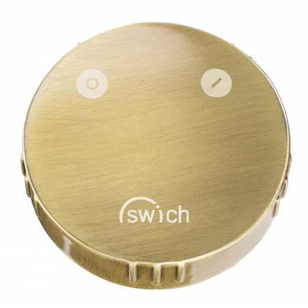 Swich - Round Handle in Brushed Brass with High Resin Filter