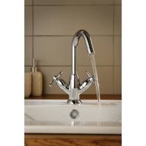 Opulence Basin Mixer with Swivel Spout in Chrome