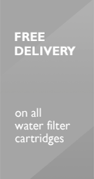 Free delivery on all water filter cartridges